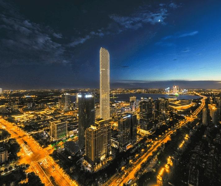 Tartle Building Night City Lights Data